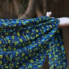 Bluebells Silk Chiffon Scarf | Swarovski crystals | Rectangular Shape