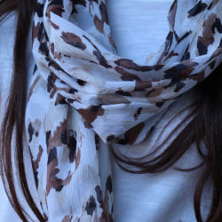 Dust in the Wind Sophisticated Infinity Loop Silk Scarf | Earthy Tones
