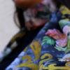 Midnight Bloom Classy Multicolored Scarf   Swarovski Crystal Accents