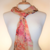 Peachy Rose Scarf Pastel Colored Crystal Accents