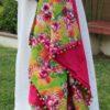 Bermuda Flowers | Flower Print | Light Green Beach Towel