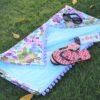 Summertime Fun Cotton Floral Print Beach Towel   Hibiscus Flowers