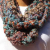 Colorful Hues Luscious Multicolored Infinity Loop Crochet-knit Scarf