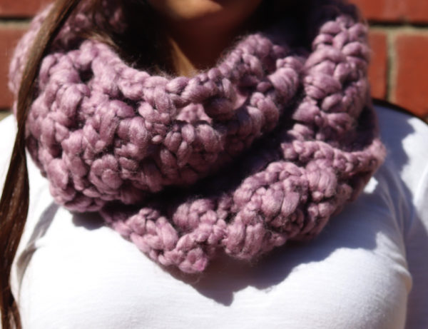 Lavender Swirl Super Soft Extra Long Infinity Loop Scarf