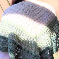 Pearls on the Vine Elegant Romantic Shawl Shades | Green Beige